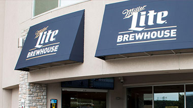 Miller Lite Brewhouse awnings